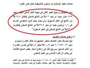 الدين العام عام 2014 بحسب وزارة المالية المصرية