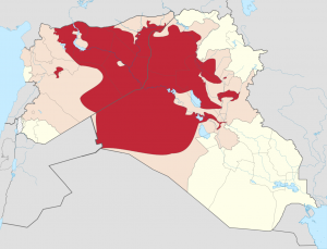 خريطة داعش في سوريا والعراق